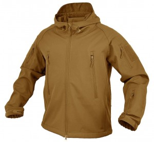 Kurtka z kapturem Softshell Falcon Texar Coyote